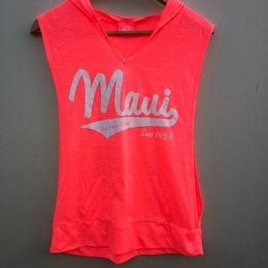 Aloha Maui Hoodie Sleeveless T-Shirt  Size Large